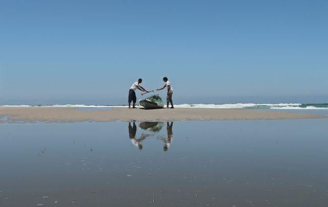Des pêcheurs à Gaza