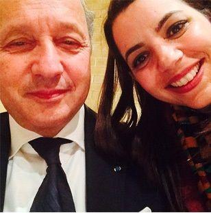 Selfie Amel Karboul-Laurent Fabius