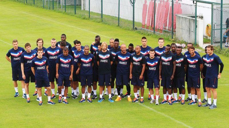Le groupe des Girondins lors de la reprise de l'entraînement en juin