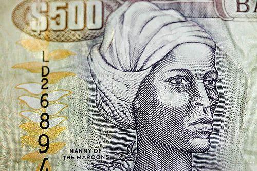 Nanny des Marrons représentée sur un billet jamaïcain de 500 dollars