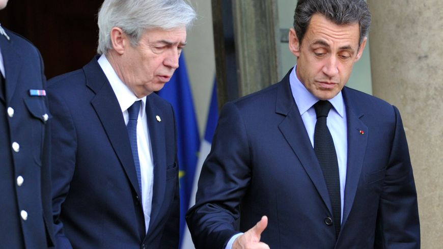 Christian Frémont (à gauche) avec Nicolas Sarkozy à l'Elysée