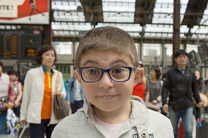 Léo à la gare de Lyon