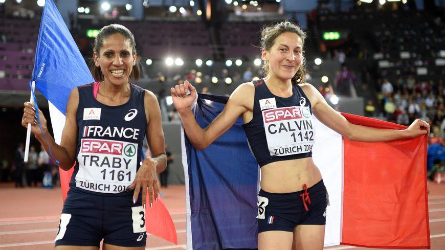 Laïla Traby et Clémence Calvin aux championnats d'Europe d'athlétisme de Zurich