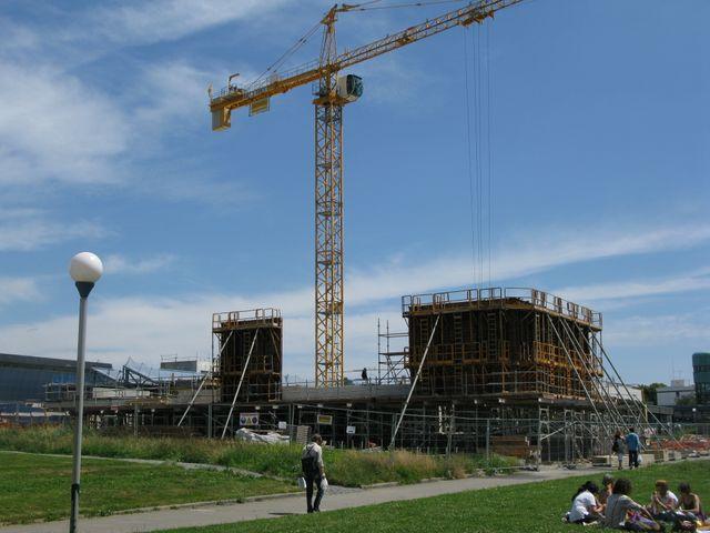Université Rennes 2 - Bâtiment Sciences humaines - construction 2009 juin