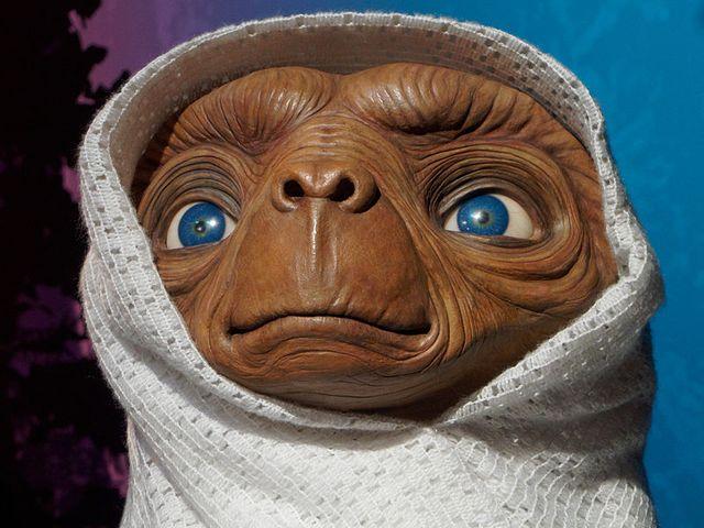 E.T l'extra-terrestre au musée Madame Tussaud's.
