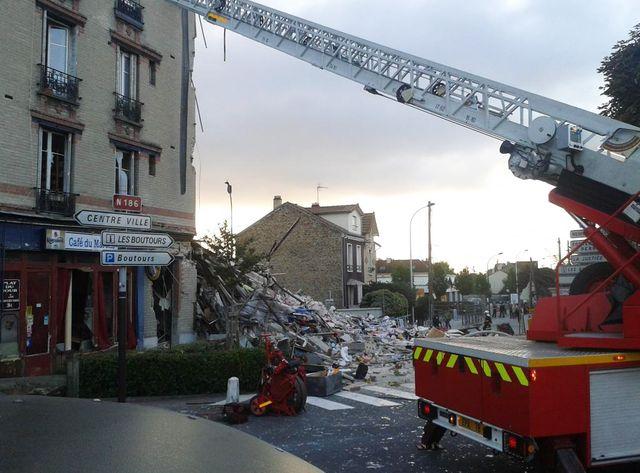 L'immeuble effondré à Rosny-sous-bois