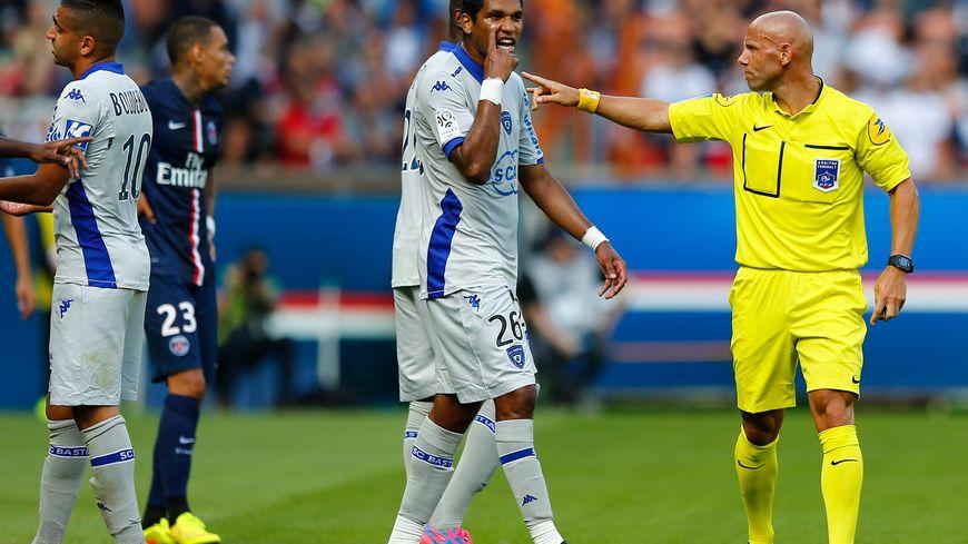 Brandao s'était vivement accroché avec Thiago Motta sur la pelouse, lors de PSG-Bastia