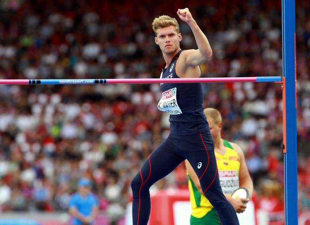 Kevin Mayer, médaille d'argent du Décathlon