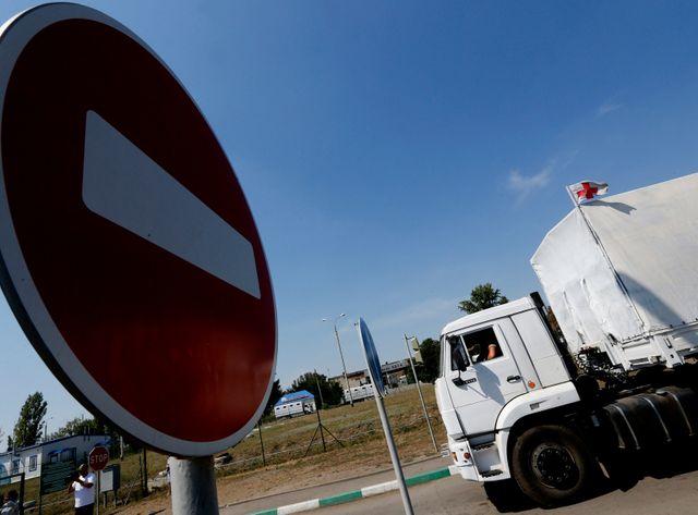 Le convoi humanitaire envoyé par la Russie était stationné depuis une semaine.