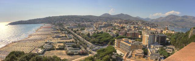 Les plages aménagées de Gaeta