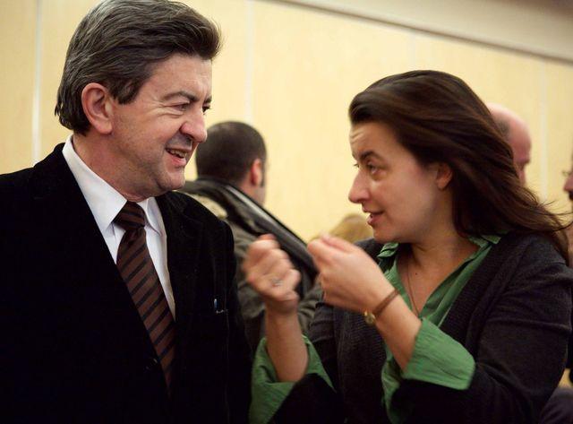 jean-Luc Mélenchon et cécile Duflot en 2009