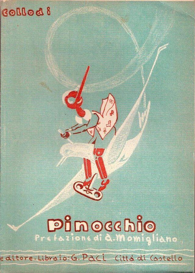 Les aventures de Pinocchio. couverture du roman de Carlo Collodi