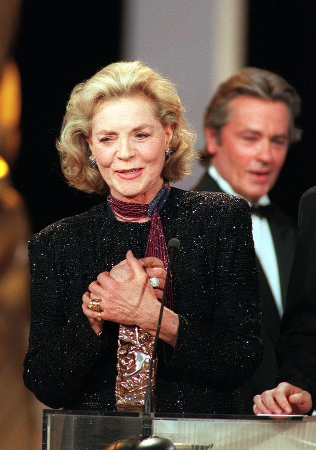 Lauren Bacall honorée par un César d'honneur en 1996