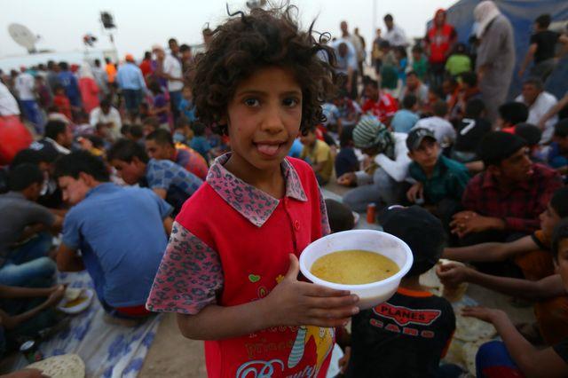 sa famille a fui les violences de Mossoul et fait partie des réfugiés de ce camp dans la banlieue d'Erbil