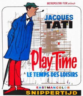 """L'affiche du film """"Playtime"""" de Jacques Tati, qui est le générique de la série Plage  © D.R."""