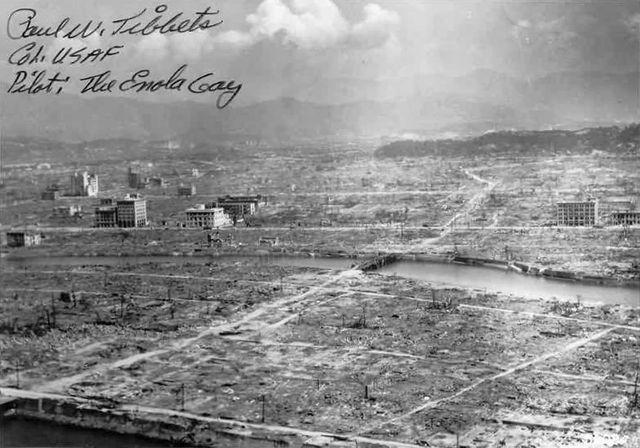 Hiroshima après la bombe H, le 6 août 1945
