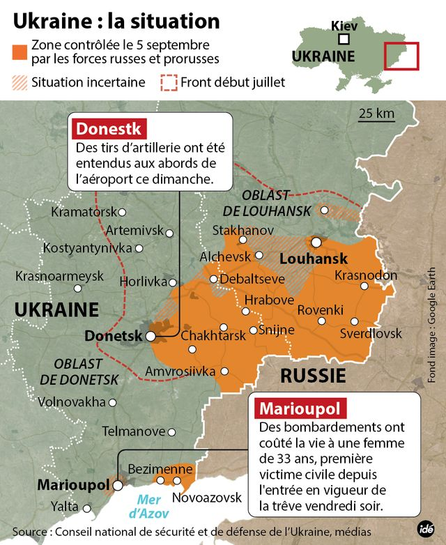 La situation en Ukraine au 5 septembre
