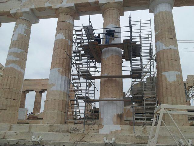 L'Acropole en travaux aussi