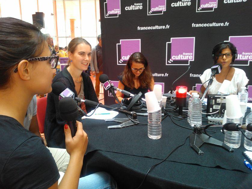 Julie T, Sophie orange, MC Missir et Louise Tourret