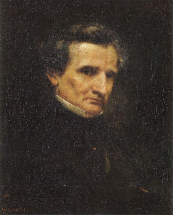 Portrait d'Hector Berlioz - Gustave Courbet (1850)