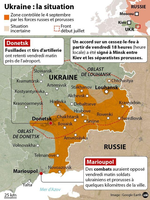 Infographie sur le cessez le feu en Ukraine