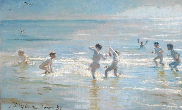 Peder Severin Kroyer_Badende drenge en sommeraften ved Skagens strand