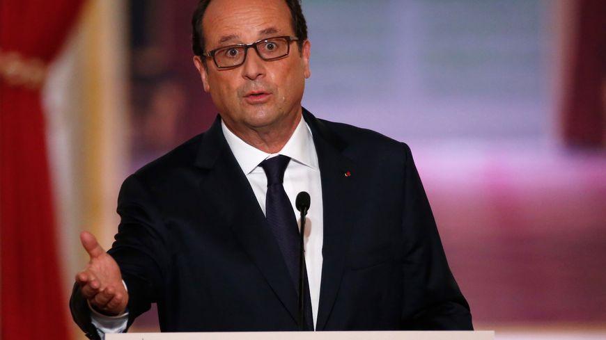 François Hollande lors de sa conférence de presse, le 18 septembre 2014