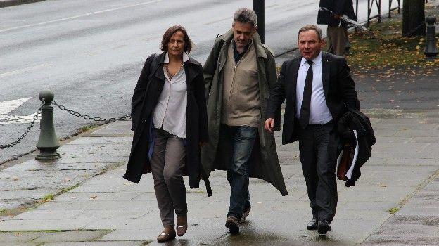 Les parents d'Agnès Marin et leur avocat Francis Szpiner