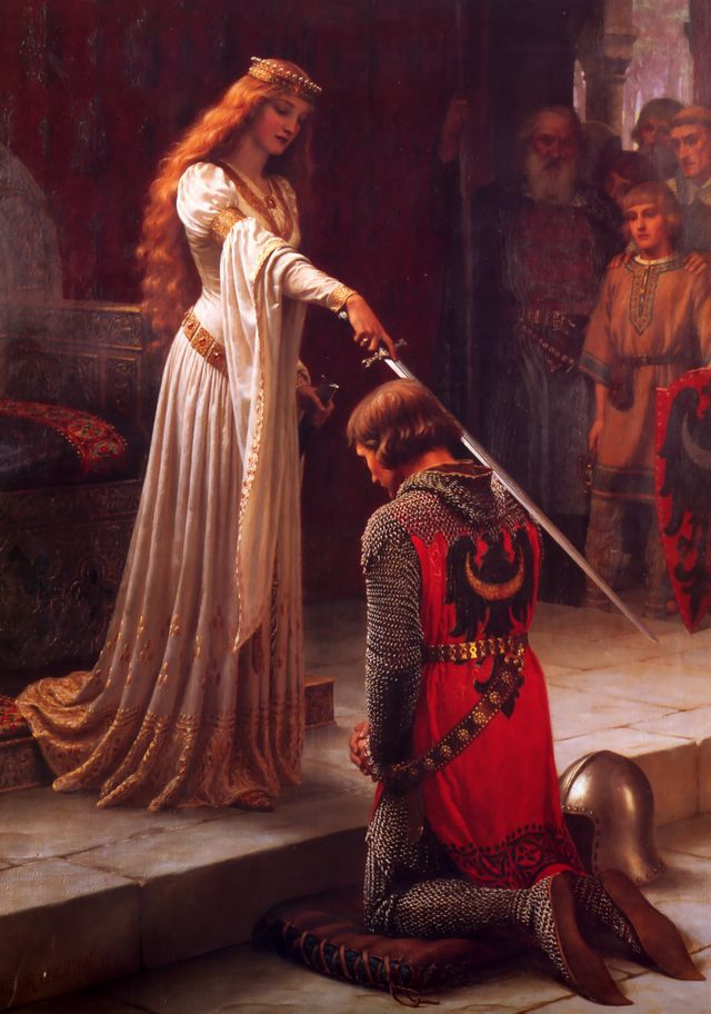 L'adoubement - par Edmund Blair Leighton - 1901