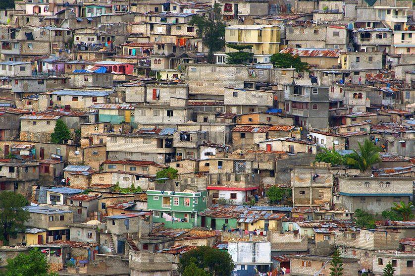 Bidonville à Haïti