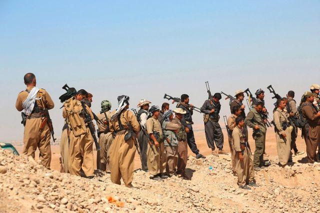 Province de Diyala, les peshmergas kurdes combattent l'Etat Islamique
