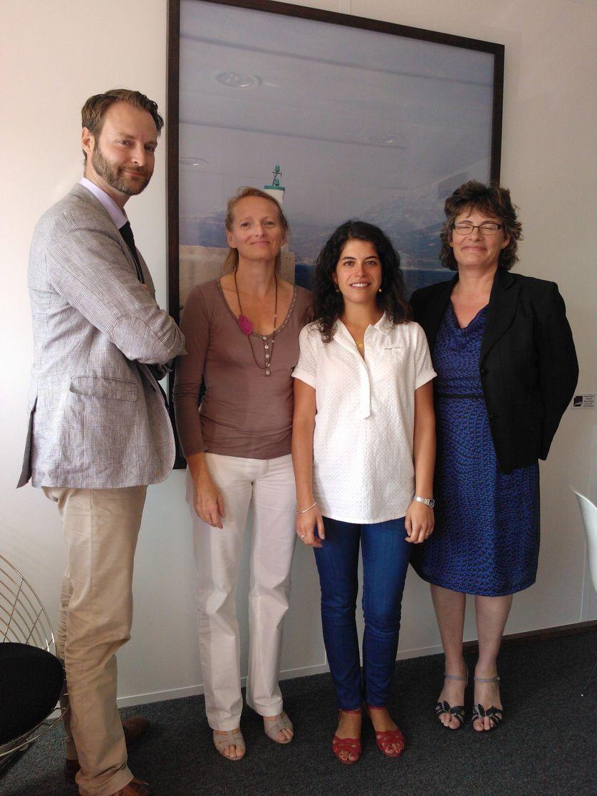 (de gauche à droite) - Pascal Odin, France Dehamel, Oihandi Bordonaba et Florence Robine