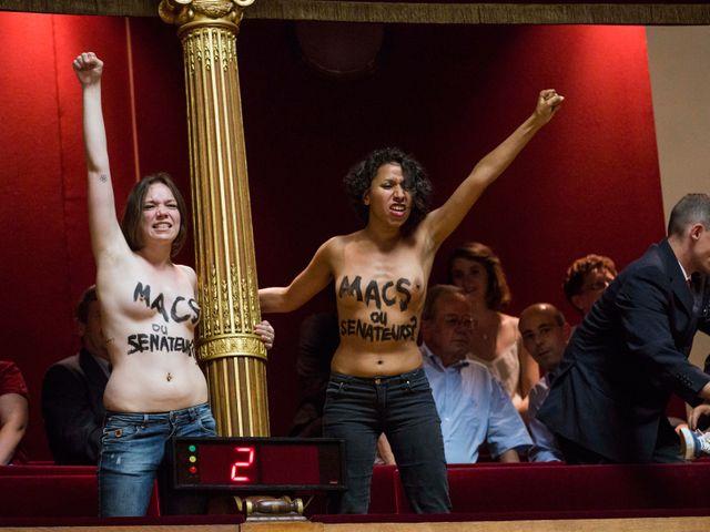 Les Femen agissent dans tous les lieux symboliques comme ici au Sénat