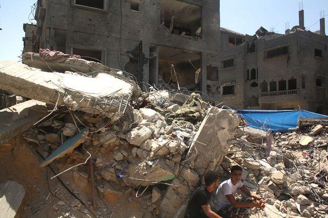 reconstruction Gaza - maison détruite