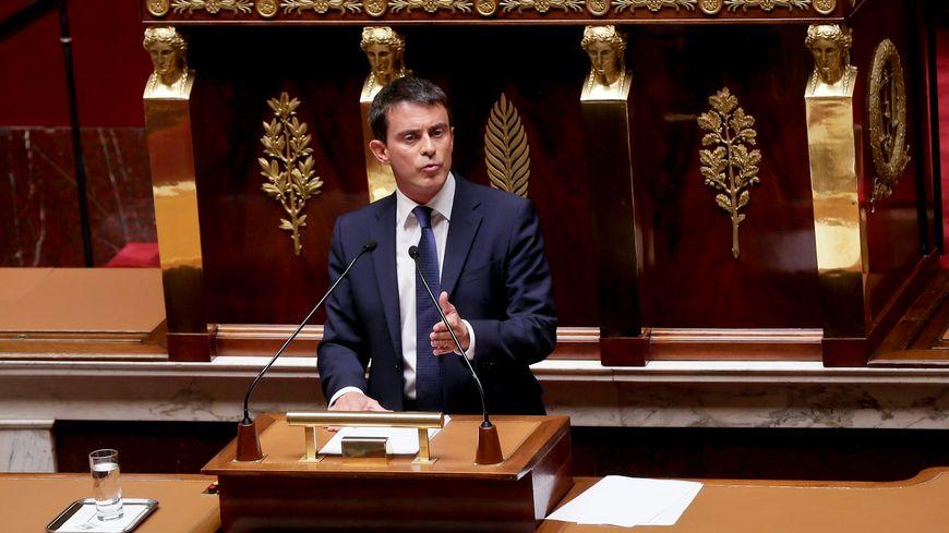 Manuel Valls à l'Assemblée nationale, le 16 septembre 2014