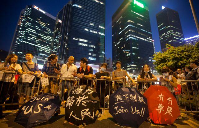 Occupy Hong Kong, deuxième jour de manifestation