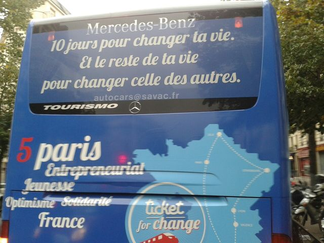 Le bus de Ticket for change