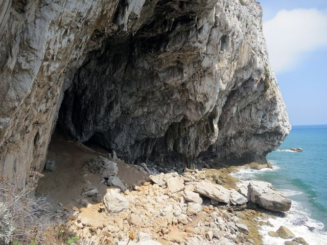 La grotte de Gorham à Gibraltar