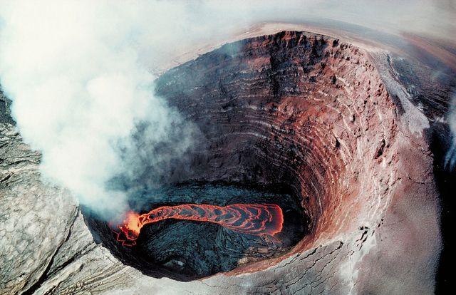 Puu Oo - Cratère de lave, 1990