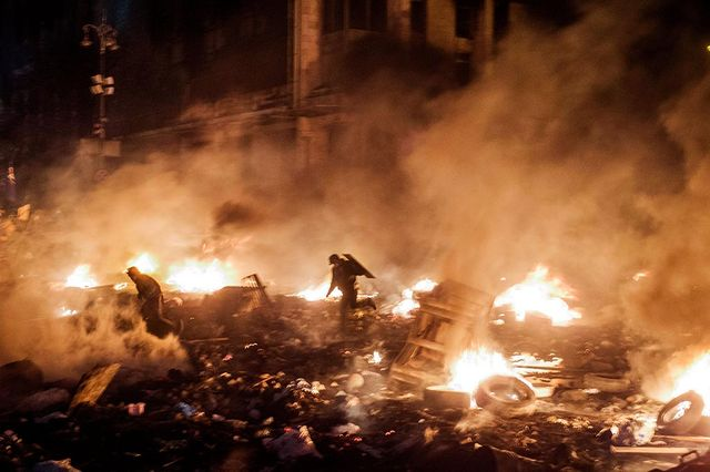 Maidan February 2014 Ukraina, Kiev, revolution,