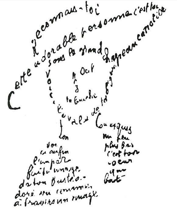Calligramme Apollinaire Lou