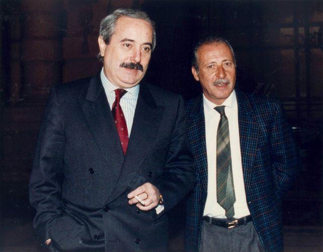 Les juges italiens Giovanni Falcone et Paolo Borsellino
