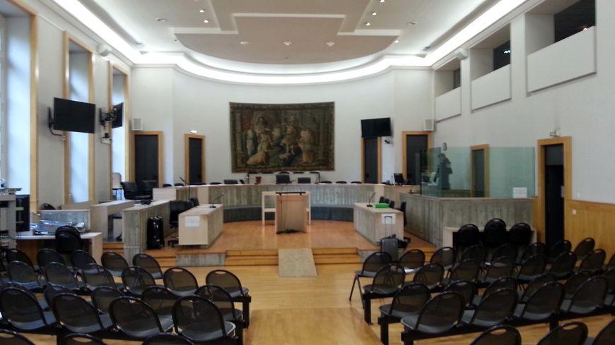 La salle d'audience de la cour d'appel de Riom