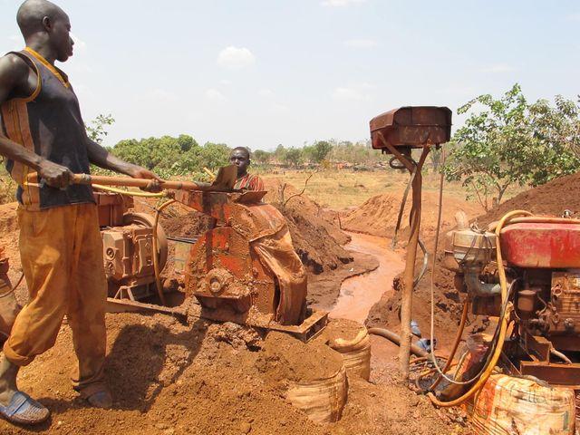 mine de Koflatié, cercle de Kangaba, dans le sud-ouest du Mali