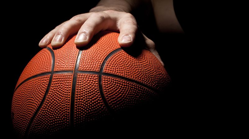 Dribble en basket ball (illustration)