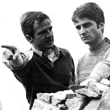 François Truffaut et Jean-Pierre Léaud (1971)