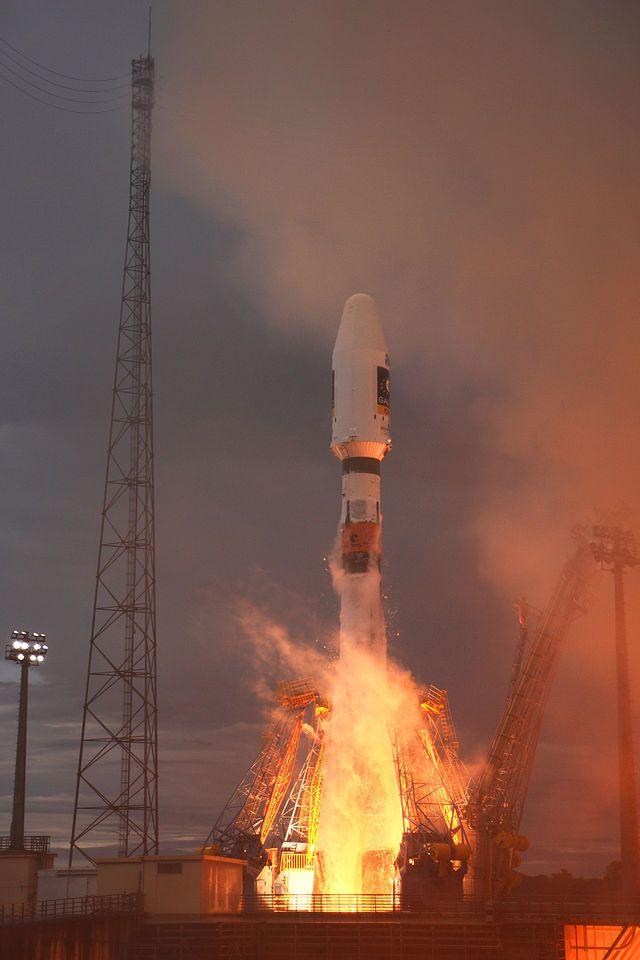 lancement d'un module Galileo par Soyouz