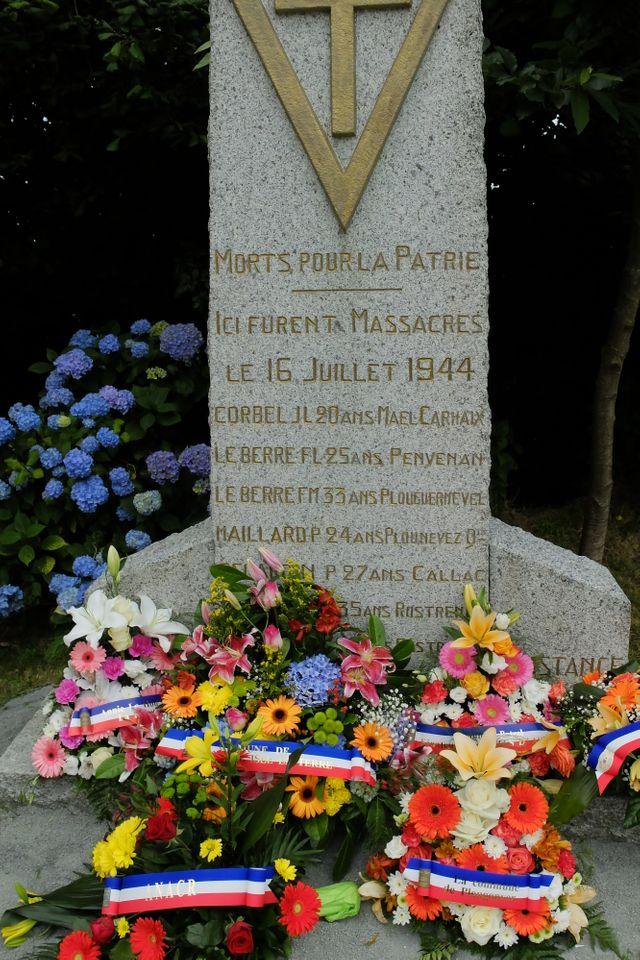 Stèle de Garzonval, en mémoire des 7 FTF fusillés