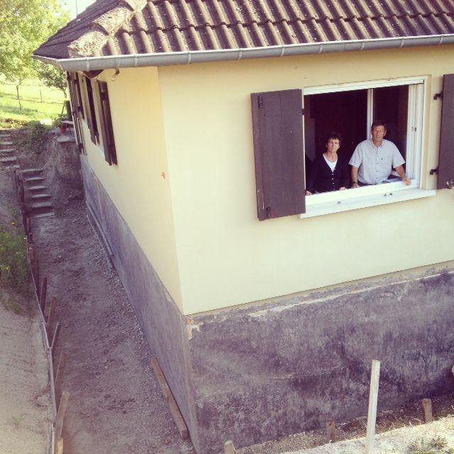 René et Françoise Schmitz ont dû procéder à une excavation.