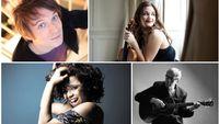 Enregistrement public d'Un dimanche idéal : Dick Annegarn, Mina Agossi, Alexandra Soumm et Guillaume Coppola